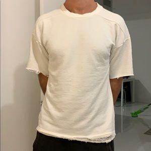 Zara Man knit T-shirt L beige